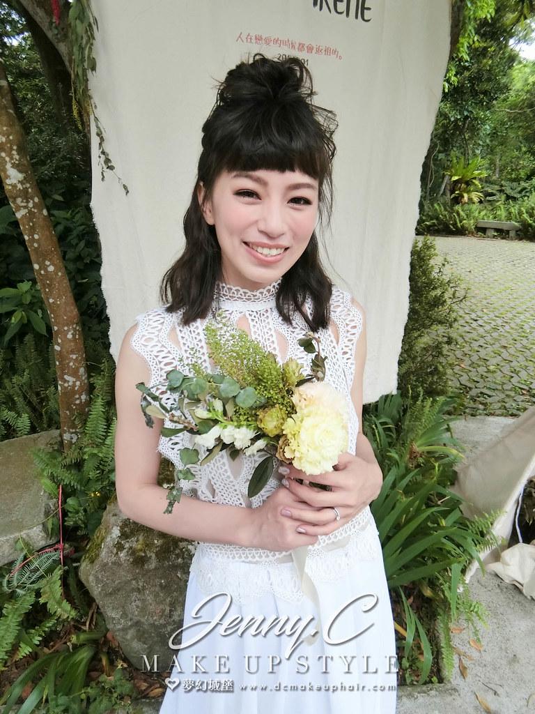 【新秘蓁妮】bride欣儀 訂結婚造型 / 台北納美花園