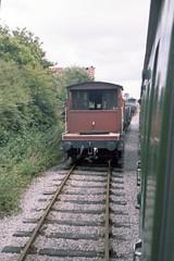 Merry Field Lane Halt, 28 Jul or 3 Aug 1985 (Ian D Nolan) Tags: railway esr prinzflashmaticgt7 epsonperfectionv750scanner 35mm merryfieldlanehalt station