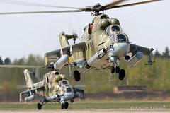 Mi-24s (Artyom Anikeev) Tags: avia aviation artyomanikeev helicopter planespotting plane airforce military kubinka uumb parade mil canon spotting mi24