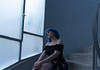 Alone (nancy_rass) Tags: blue woman hair stairs atmospheric nostalgia daydreaming portrait abyss thought lost poetic artistic cinematic alternative indie lowlight dreamer naturel memories she aesthetic melancholy emotion beautiful toned alone girl mood model sadness