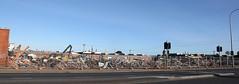 South Road Bridgestone De-Construction (adelaidefire) Tags: ugh road edwardstown south australia bunnings bridgestone toyoda gosei factory