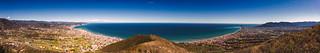 Panoramic of Varatella Valley and Albenga Plain