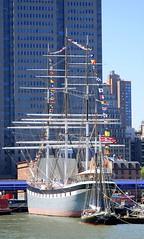 Tall ship, New York City, USA. (Roly-sisaphus) Tags: nyc thebigapple unitedstatesofamerica