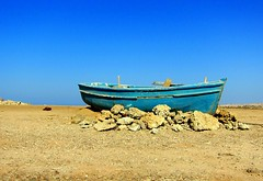 Old boat (majka44) Tags: egypt2011 boat blue travel sky stone holiday light colors old