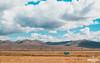 Blue tiny truck (Mando Cast) Tags: blue azzurro yellow mandocast sky road clouds cloudy junin peru nature armandocastanon mandocastphoto travel cornfield farm pasture desert countryside tiny america south amazing wanderlust tarma jauja truck peruvian fields trip