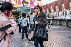 Feeling A Little Puffy Today (burnt dirt) Tags: asian japan tokyo shibuya station streetphotography documentary candid portrait fujifilm xt1 laugh smile cute sexy latina young girl woman japanese korean thai dress skirt shorts jeans jacket leather pants boots heels stilettos bra stockings tights yogapants leggings couple lovers friends longhair shorthair ponytail cellphone glasses sunglasses blonde brunette redhead tattoo model train bus busstation metro city town downtown sidewalk pretty beautiful selfie fashion pregnant sweater people person costume cosplay puffy black gray denim purple