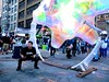 spliffin' (citymaus) Tags: spliffin installation holographic howweird howard street fair faire streetfestival sanfrancisco soma 2018 art musicfestival balloon inflated rotate rotating spinning guy
