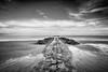 Knokke -7- (Jan 1147) Tags: coast kust strand beach golfbreker breakwater sky lucht zand sand sea zee noordzee zw zwartwit monochroom monochrome bw blackandwhite knokke outdoor buitenopname