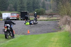 IMG_2365 (jcravens) Tags: motorcycle bikes motos offroad clinic class gravel wet grass mud bmw klr usa washington pnw