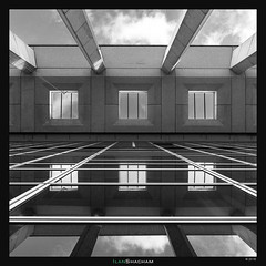Meriadeck Matrix II (Ilan Shacham) Tags: abstract architecture graphic shape form symmetry lines perspective fineart fineartphotography building sky reflection meriadeck bordeaux france bw blackandwhite square