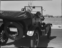 Ford Model T on 4x5 film (Garrett Meyers) Tags: rbgraflex4x5 garrettmeyers garrett meyers largeformat 4x5film graflex graflex4x5 film filmphotographer vintage vintagecar interior coolaprilnights redding reddingphotographer chevy cadillac ford mercury homedeveloped handheld