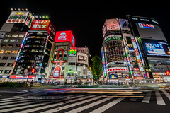 Shinjuku Neon (Joshua Mellin) Tags: shinjuku godzillaroad godzilla game taito station taitostation neon night asia tokyo tokyojapan tourism travel instagram joshuamellin photography photographer best photos pics pic picture pictures street blur nightphotography longexposure ad advertising flash backtothefuture car evening zap disappear disappearing smile asian skyline city explore exploring adventure adventuring traveling instagood instadaily hashtag hashtags bright red green blue yellow colors rainbow spring summer pink face billboard sign chaos controlled beautiful cities hitachi japan trip eva air