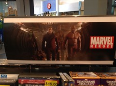 Marvel Studios Guardians of the Galaxy banner (splinky9000) Tags: guardians of the galaxy marvel cinematic universe mcu starlord peter quill gamora drax destroyer rocket raccoon groot hmv video store vaughan mills toronto canada