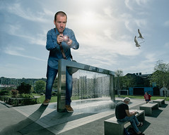 Street Photography (Nigel grieves) Tags: 2018 backgrounds fountain park composite canon 5dmkiii strobe godox onlyme selfportrait