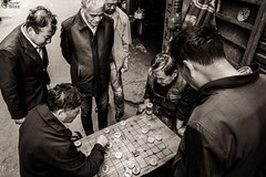 Chinese Chess Being Played on the Street (HunterBliss) Tags: active asia beijing black casual chess china chinese city clothing day enjoyment ethnicity face facial family famous focus four gray green hair happiness holding joy mature men nature outdoors park people place playful playing red senior short standing togetherness up view waist white women xiangqi years young