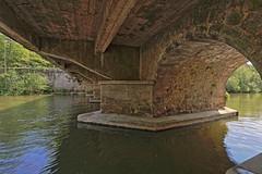 A l'ombre du Pont de Sarthe (Tonton Gilles) Tags: alençon normandie hdr paysage urbain pont de sarthe rivière arche