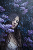 The lilacs and her IV (David Bovet) Tags: sleep lilacs flowers purple portrait fantasy fairy mistery