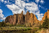 Smith Rock (KPortin) Tags: smithrockstatepark mountain geology rockformations trail trees clouds river oregon crookedriver