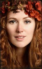 Enchanted (WayneToTheMax) Tags: red hair head eyes green brown enchanted portrait nikon d750