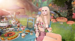 Scarlett's Tea Party (Duchess Flux) Tags: fameshed enchantment pocketgacha gizseorn wasabi laq chicchica fashiowl raindale titans lagom secondlife aliceinwonderland sl