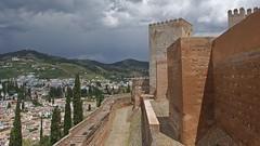 DSCF5599 Alcazaba de la Alhambra, Granada (Thomas The Baguette) Tags: granada spain granadaspain espagne espana alhambra nesrid nesridpalace patiodelosleones lionfountain comares moorish fountains architecture gardens machuca alcazaba