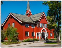 Herredshuset Jessheim #1 (Krogen) Tags: norge norway norwegen akershus romerike ullensaker jessheim herredshuset historie history krogen panasoniclumixgx7 mitakonspeedmaster