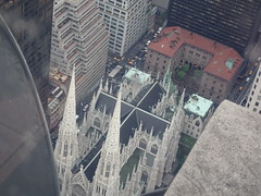St Patrick's Cathedral from Top of the Rock, Rockefeller Center, New York City (iainh124a) Tags: iainh124a newyork ny nyc manhattan bigapple sony sonycybershot dschx90 dschs90v cybershot dx90 dx90v