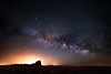 Milky Way over Shiprock, New Mexico (Beau Rogers) Tags: shiprock new mexico newmexico milkyway astrophotography light pollution southwest