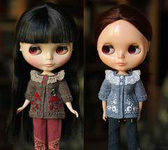 (Ulanna) Tags: blythe knitting handmade outfit clothes sweater cardigan pullover bowwowtrad bohemianpeace