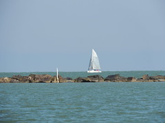 Honoring National Maritime Day (maorlando - God keeps me as I lean on Him!!) Tags: ship boat water rocks sky blue vessel madeexploremay222018at188thanks sailboat texas corpuschristitx corpuschristibay nuecescounty