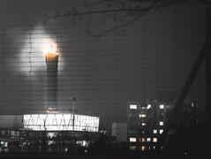Zurich industrie at night. (philippkneller) Tags: oerlikon clouds sky shoot night photo photography nikon architecture lights smoke life industrie schweiz switzerland swiss zürich zurich