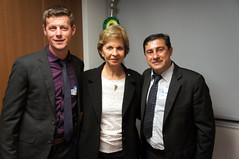 22/05/18 - Audiência no FNDE, com o presidente Silvio de Sousa Pinheiro e prefeitos. Com o prefeito, Paulo César Scheidt, e o vice-prefeito, Daniel Hunhoff, de Capitão/RS.