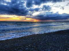 Dinas Dinlle.  Taken with Galaxy S9+, edited with Snapseed. (reudyfam) Tags: cymru wales sea sunset