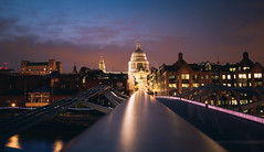 Throwback to London (desomnis) Tags: london uk city cityscape urban longexposure longtimeexposure longexposuretime stpauls stpaulscathedral millenniumbridge night nightshot nightlights sunset aftersunset desomnis 6d canon6d canoneos6d tamronsp2470mmf28 tamron2470mm tamron2470mmf28 tamron