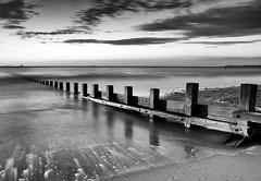 Once more down to the beach (PeskyMesky) Tags: aberdeen aberdeenbeach longexposure water sky monochrome blackandwhite canon canon6d leefilter littlestopper movement