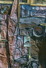 Found folk art (lgflickr1) Tags: folkart found noahpurifoy joshuatree california desert outdoor art discarded old rusty junk distressed metal wood foundart brown red silver dull texture d750 nikon display abstract decayart collage abstractimpressions clutter abandon