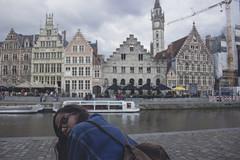 (robertosanchezsantos) Tags: río lys gante gent gand bélgica belgium europa europe viaje travel arte art abstracto abstract urbano urban architecture arquitectura edificio gente retrato portrait people agua