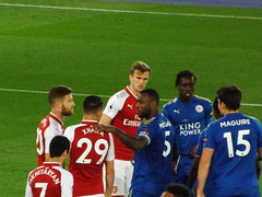 Leicester attack in the second half (lcfcian1) Tags: leicester city lcfc afc arsenal king power stadium football sport epl bpl leicestercity arsenalfc leicestervarsenal kingpowerstadium premier league premierleague stadia wesmorgan foussenidiabate robholding 31 9518 leicestercity31arsenal9518