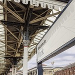 19h Century railway station canopy. thumbnail