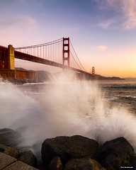 Morning Water Waves (davidyuweb) Tags: morning water waves fort point sanfrancisco goldengatebridge luckysnapshot sfist