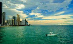 An unforgettable afternoon of Sunny Isles Beach. (Aglez the city guy ☺) Tags: sunnyislesbeach afternoon architecture colors clouds cityscapes yacht skies sea seascape waves miamifl waterways walkingaround urbanexploration outdoors exploration building