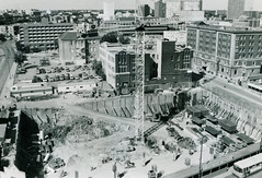 Construction of the Investor's Group Tower, Portage & Colony, 1980s (vintage.winnipeg) Tags: winnipeg manitoba canada vintage history historic construction