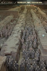 Terracotta Warriors (Pit 1), Xi'an, China (chrisjohnbeckett) Tags: terracottaarmy terracottawarriors china xian statues figures funerary chrisbeckett archaeology canonef24105mmf4lisusm pit1 rows ranks line emperorqinshihuang sculpture