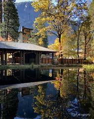 Yosemite - Fall at the Ahwahnee Hotel (pjhaan) Tags: borderfx yosemite valley ahwahnee fall autumn reflection