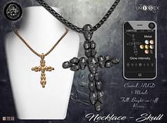 ... SpotCat ... Necklace - Skull (Sasha Spot) Tags: hipster event spotcat necklace skull male female unisex mens