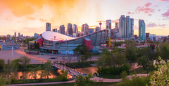 Downtown Sunset Color 2018 (Bluesky251) Tags: alberta architecture beautiful bowriver bridge bright buildings calgary canada cityscape cloudline clouds color colorful commerical daylight daytime downtown exposure forest green home hot landscape light modern nature outdoor panorama pedestrian reflection residential river saddledome season sky skyline spring sunset tour tourist travel traveler tree urban warm water weather view