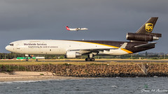 UPS MD-11F (Green 14 Pictures) Tags: aviation avgeek avporn airport aircraft airplane air airline airlines airfield airways sydney syd sydneyairport yssy australia ups upsairlines 5x mcdonnelldouglas mcdonnell douglas md11 md11f mcdonnelldouglasmd11f cargo freight freigther