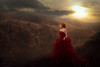 Encounter ({jessica drossin}) Tags: jessicadrossin naturallight flare butterfly woman girl red dress hair redhead clouds overlays actions wwwjessicadrossincom