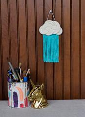 Macrame Woven Rain Cloud (srivard72) Tags: macrame weaving craft art decor wallhanging wallart fiberart etsy etsyseller parlor parlorart handmade forsale kids nursery