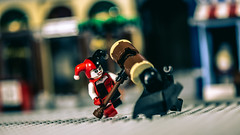 BONK!!! (3rd-Rate Photography) Tags: harleyquinn batman lego minifig minifigure toy toyphotography macro canon 5dmarkiii 100mm jacksonville florida 3rdratephotography earlware 365